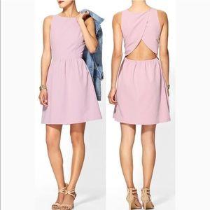 Cutout Back Fit & Flare Dress